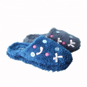 Cosies Ladies Button Mule 8 Slippers Size 3 - 8 Mule Blue Grey Girls Womens Shabby Chic e35336
