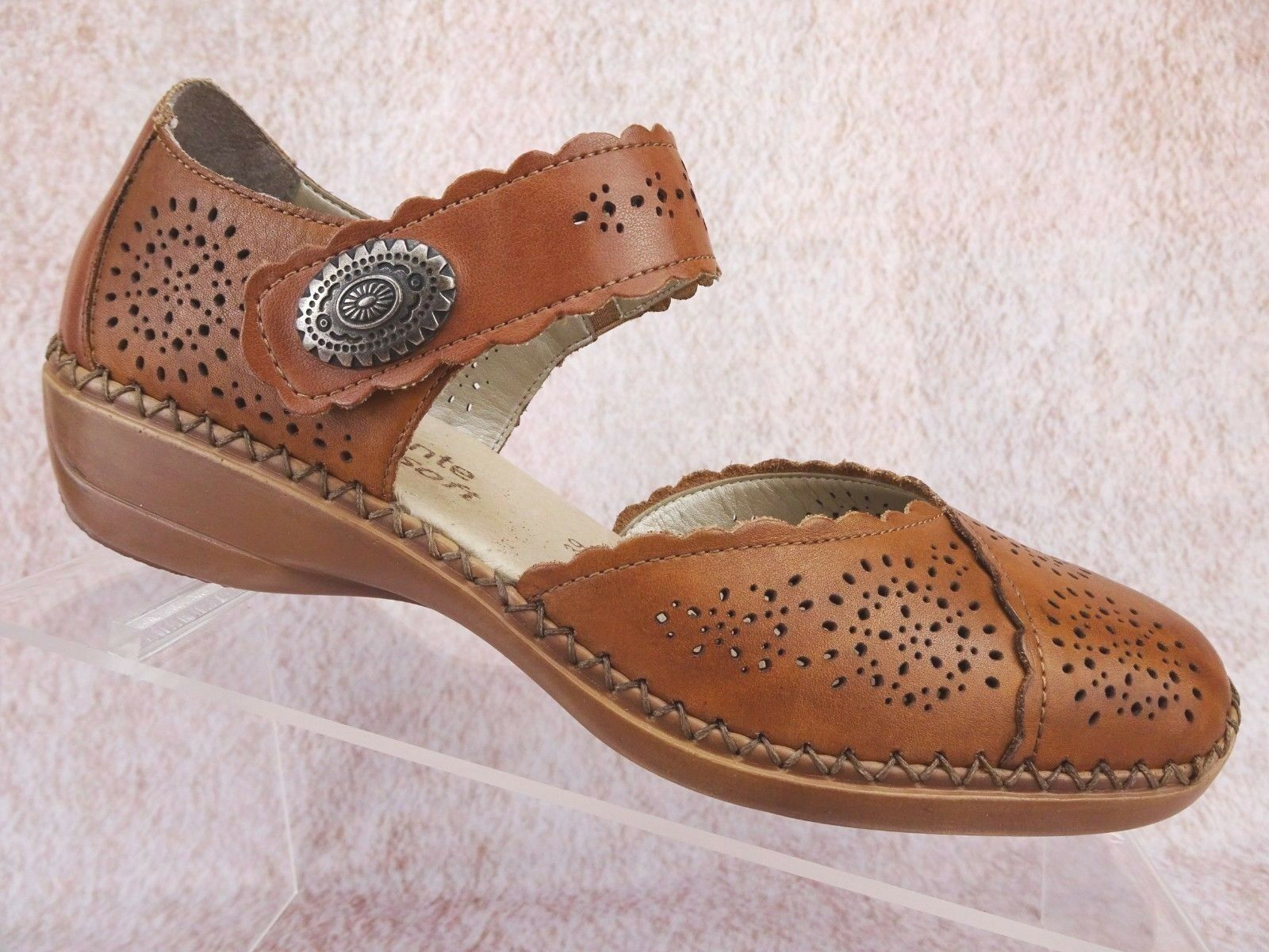 Remonte Womens Leather Ankle Strap Mary Jane Comfort Sandal shoes US 8 8.5