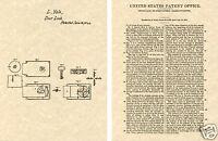 Vintage YALE LOCK 1844 PATENT Art Print READY TO FRAME!!! key antique Linus
