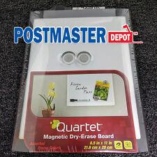 Quartet Magnetic Dry Erase Board 8.5 X 11 In Black U0026 Silver School Office  Home