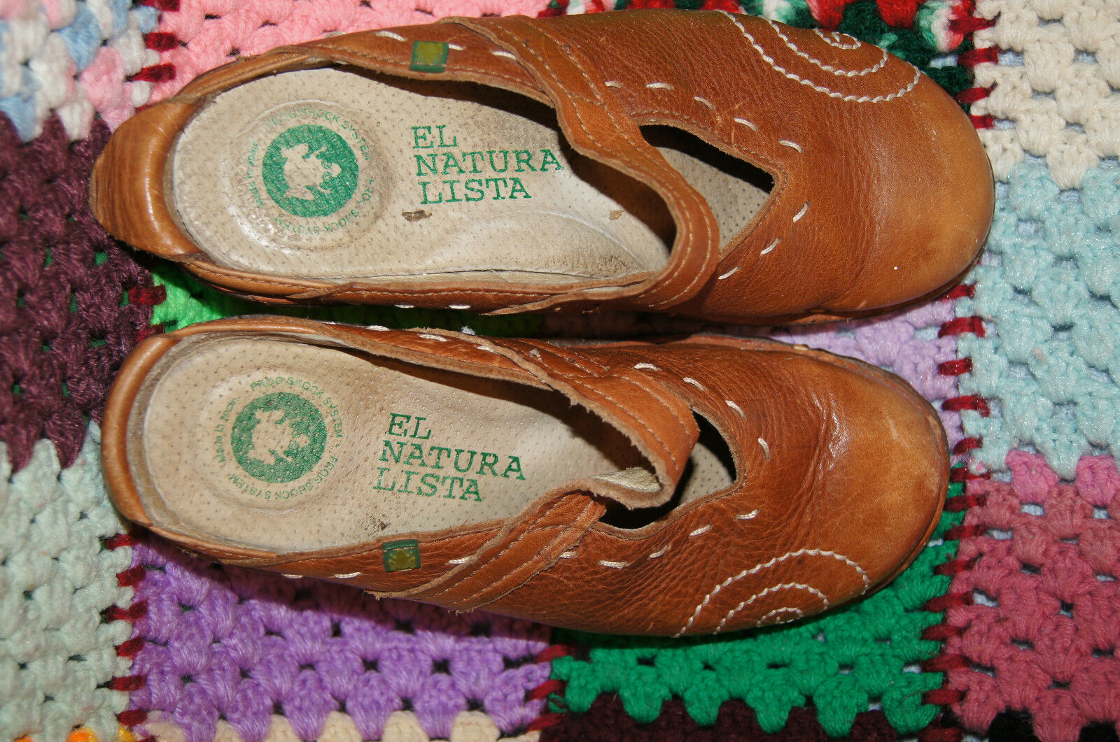 EL NATURALISTA Scarpe SIZE 38 7.5 - 8 LEATHER 8 LOAFERS SLIP ONS 8 LEATHER EL NATURA LISTA 0d6c2b