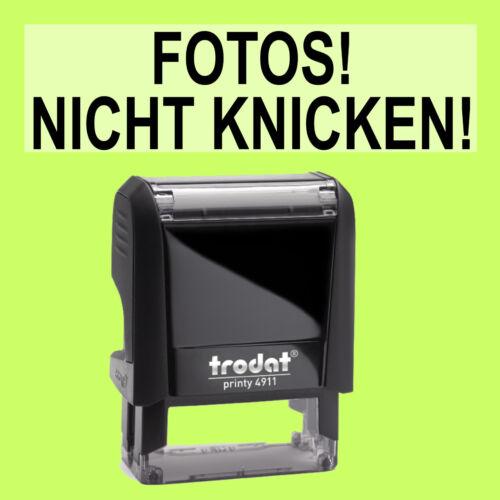 NICHT KNICKEN Trodat Printy Schwarz 4911 Büro Stempel Kissen schwarz FOTOS