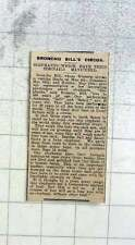 1926 Broncho Bills Circus Elephants Have Their Toenails Manicured