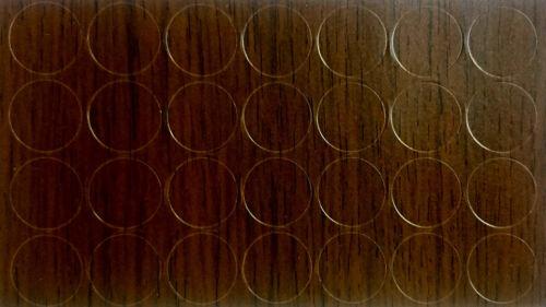 Wenge Amari x28 Auto Adhésif Bâton meubles Autocollant Vis Trou COVER CAPS 20 mm