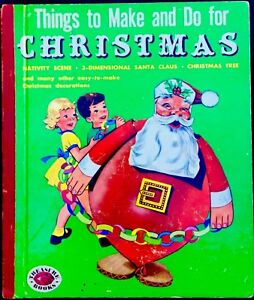 THINGS-TO-MAKE-amp-DO-CHRISTMAS-1950-s-Cut-Out-Activity-Children-s-TREASURE-Book