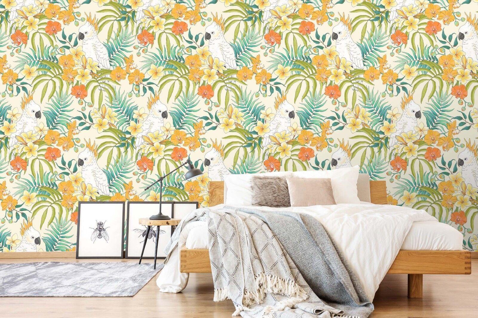 3D golden Flower 946 Wallpaper Mural Paper Wall Print Indoor Murals CA Summer