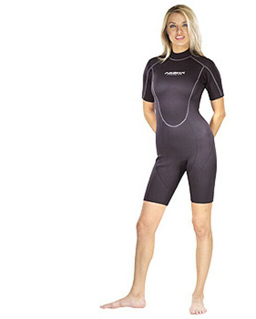 Akona Spring Shorty Wetsuit  3mm Womens Size 7 8 Scuba Diving Snorkeling Surfing  outlet online store
