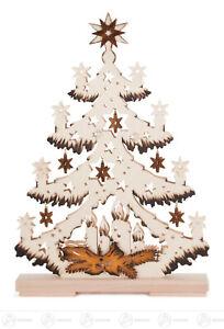 Tannenbaum Erzgebirge.Tannenbaum Mit Sternen Coloriert Erzgebirge Ebay