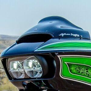 "Klock Werks 9/"" Black Sport Flare Bagger Windshield Harley Road Glide 2015-2020"