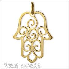 Grand pendentif plaqué or Main de Fatma