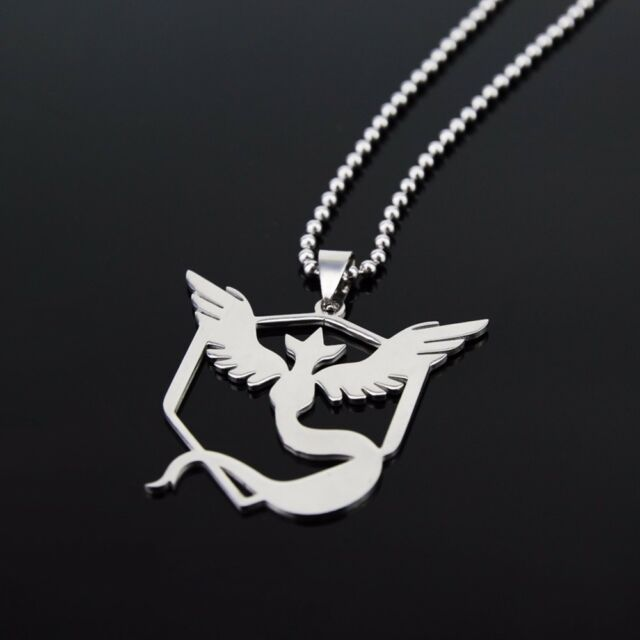 Pokemon Go Team Mystic Laser Cut Stainless Steel 316L Necklace N117