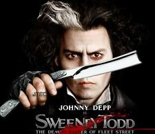 "10.5"" Johnny Depp Movie SWEENEY TODD Straight Stainless Steel Razor Knife"