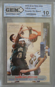 2003-04-LEBRON-JAMES-SI-FOR-KIDS-ROOKIE-CARD-RC-GRADED-GEM-MINT-10-PSA-BGS