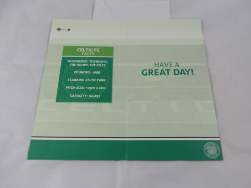 Badge Celtic Birthday Card w Official Merchandise
