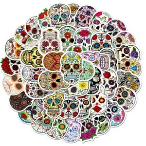 New-20-Large-MEXICAN-DAY-OF-THE-DEAD-SUGAR-SKULL-Stickers-Laptop-PC-039-S