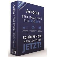 Acronis True Image 2015 Für Pc & Mac 3-geräte Backup & Recovery -deutsch- Box