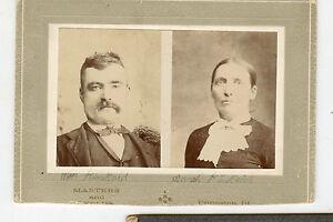 Antique Photo - Man W/Moustache & Lady - Illinois - KINKAID Family