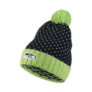 762bef3910f NWT Nike NFL Seattle Seahawks Knit Hat Stocking Cap w Pom Womens 1 ...