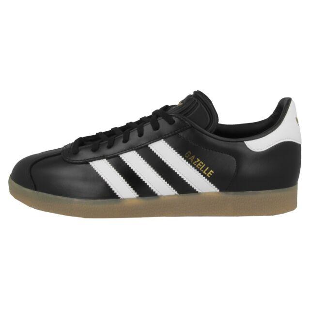 buy online 0f2a5 b2910 ADIDAS GAZELLE Zapatos Retro Zapatillas Deportivas Blanco y Negro Oro  Metálico