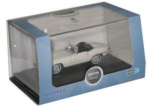 Oxford-Diecast-76-etyp-013-e-Tipo-Jaguar-Auto-Modello-Bianco