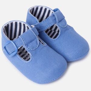 17cb21297dd3 Spanish Designer MAYORAL Baby Boys T Bar Blue Linen Pre Walking ...