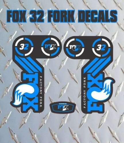 Fox 32 Bleu Fourche Autocollants Decals Graphics vtt DOWN HILL MTB