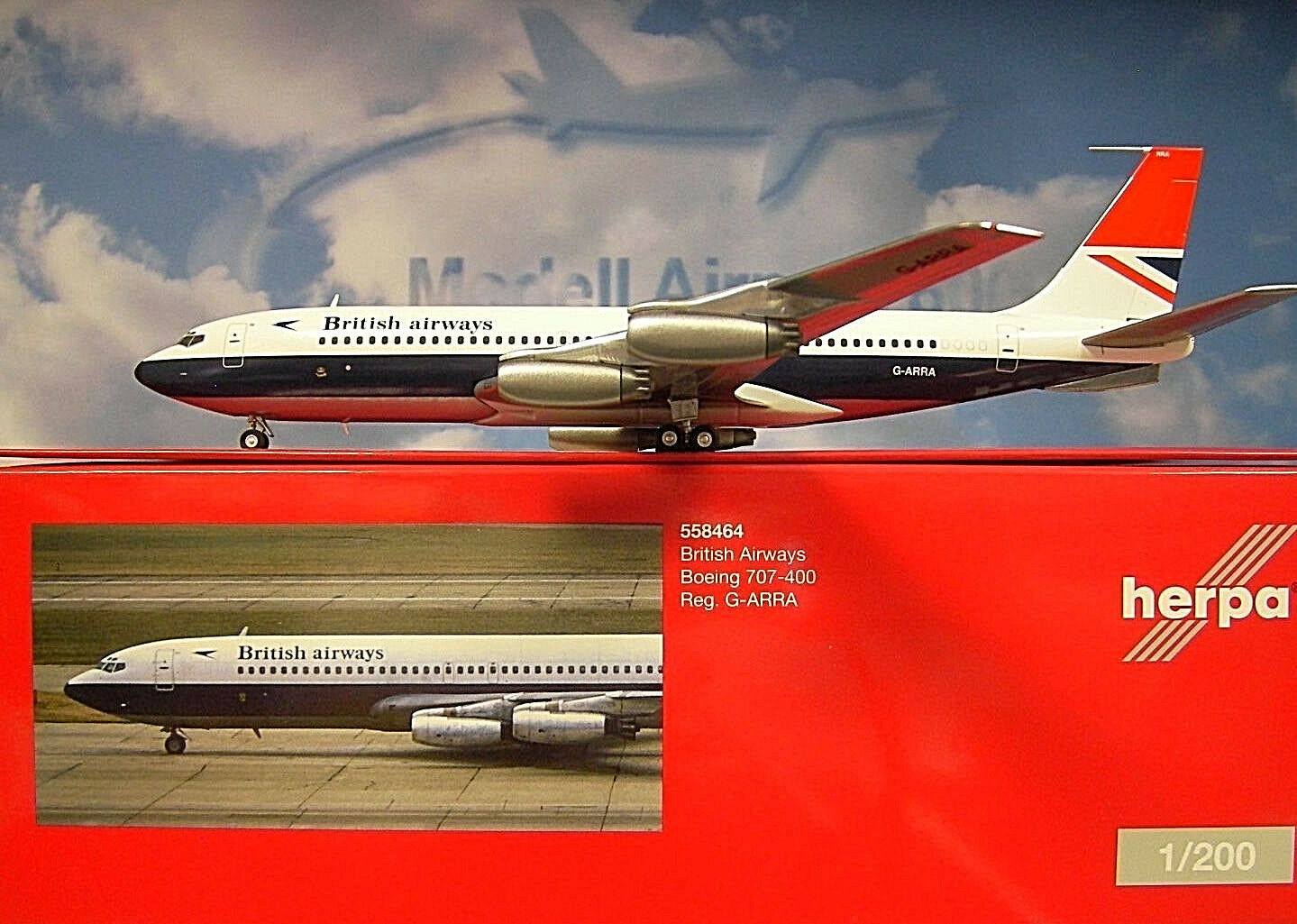 Herpa ALI 1:200 Boeing 707-400 707-400 707-400 British Airways g-arra 558464 f40e17