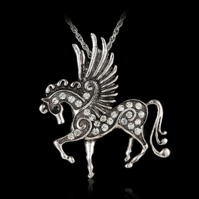 6Colors Hot Pegasus Horse Pendant Charms Pendants Necklace Lady Party Costome