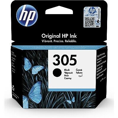 HP 305 Ink Cartridge, Black (3YM61AE)