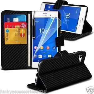 Portefeuille-Cuir-qualite-Executif-etui-support-etui-de-telePhone-Sony