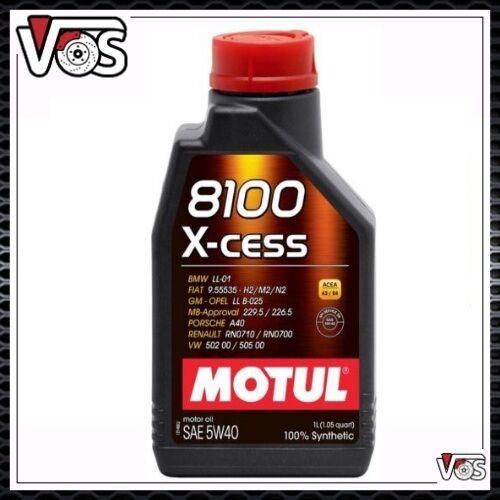 Olio Motore Motul 8100 X-Cess 5W40 1 LITRO 100% Sintetico ACEA A3/B4 API SN/CF