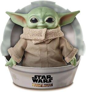 Star-Wars-Mandalorian-The-Child-11-034-Plush-Baby-Yoda-Doll-GWD85-MATTEL-NEW
