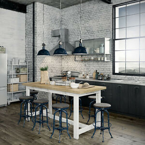 Outstanding Details About Rustic Solid Timber Vintage Kitchen Island High Bench Bar Dining Table 10 Seater Machost Co Dining Chair Design Ideas Machostcouk