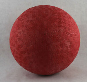 "NEW 8.5"" Inch LOT OF 6 RED PLAYGROUND RUBBER DODGE BALLS KICK BALL FOURSQUARE"