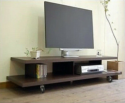 Lowline Plasma LCD LED TV Stand Entertainment Unit Cabinet Drawer Brown TV2
