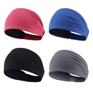 Men-Women-Sweat-Sweatband-Headband-Yoga-Gym-Running-Stretch-Sports-Head-Band-XJ