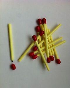 1 Ballpoint Pen Match Feu Red Humor Gift New