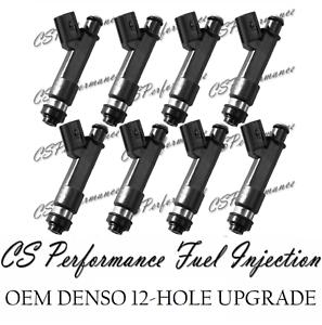 8 OEM Denso 12-Hole Upgrade Fuel Injectors set for 05-09 Lexus Toyota 4.7L V8
