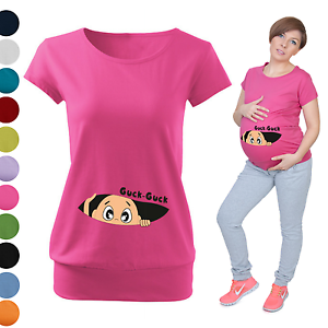mutterschaft schwangerschaft guck guck t shirt top blusen baby shower geschenk ebay. Black Bedroom Furniture Sets. Home Design Ideas