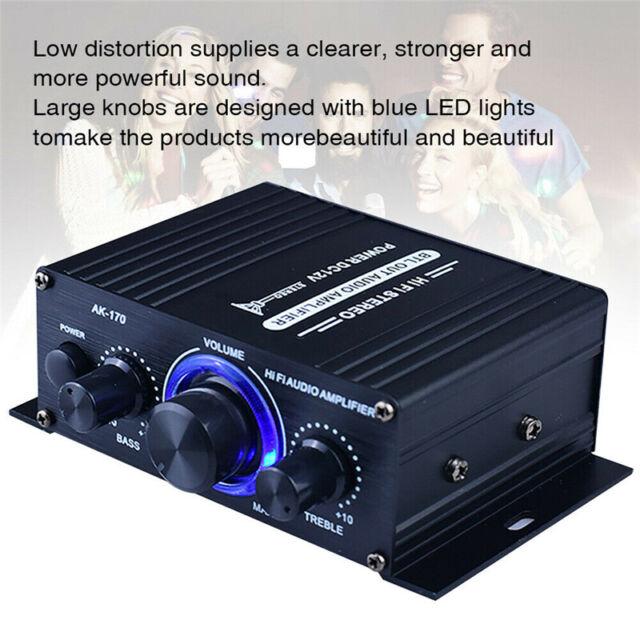 400W 2CH Digital Amplifier HiFi Bluetooth USB Stereo Audio MP3 FM AUX AMP Radio