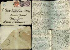 GB QV 1898 to MALAYA STRAITS SETTLEMENTS LETTER to FRANK SWETTENHAM SELANGOR RG