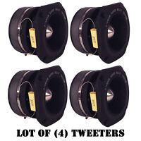 Lot Of (4) Pyramid Tw46 1.5 400 Watt Die-cast Aluminum Titainium Super Tweeters