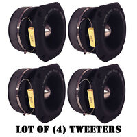 Lot Of (4) Pyramid Tw46 1.5 400 Watt Die-cast Aluminum Titainium Super Tweeters