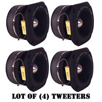 Lot Of (4) Pyramid Tw46 1.5 400 Watt Die-cast Aluminum Titainium Super Tweeters on sale