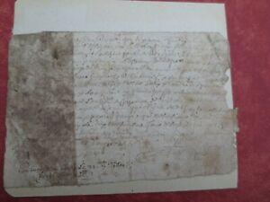 Industrieux Très Ancienne Lettre Daté De 1695 Rare (cachet D'auvergne )