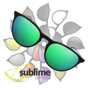 2658ebce33f Image is loading POLARIZED-Metallic-Emerald-Green-Replacement-Lenses-for-Ray -