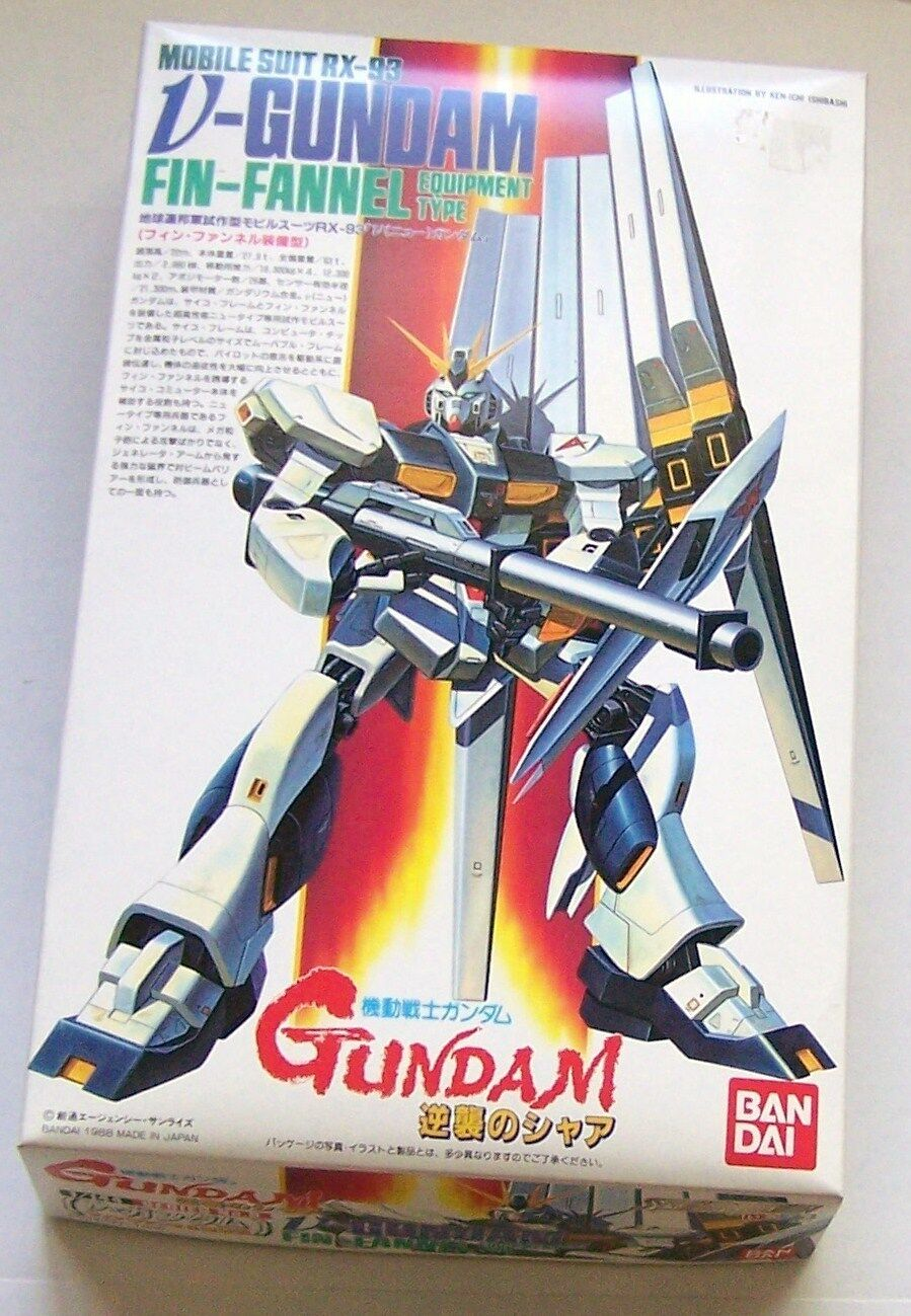 V-GUNDAM (RX-93) FIN-FANNEL EQUIPMENT TYPE Bandai 1 144 Scale Model Open Unbuilt