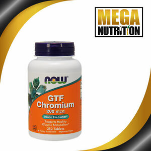 NOW-Foods-Chromium-GTF-200mcg-250-Tablets-Healthy-Blood-Sugar-Level-Amino-Acid