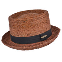 NEW MENS GENTS WOMENS LADIES STRAW PORK PIE SUMMER SUN FESTIVAL HAT 2 COLOURS