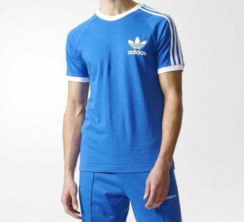 MEN ORIGINALS ADIDAS 3-STRIPES crewneck T-shirt soft cotton jersey Top